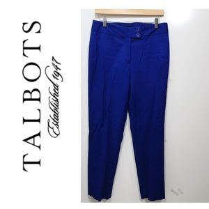 Talbots Size 8  Skinny Ankle Pants Solid Blue